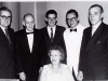 Western Australia\'s 1961 Open Intersate Team - l to r - Charlie FRUGTE, Hans ROSENDORF (captain), Jeff LATHBURY, Mr C DOCZY, Mr Van ZEGGERN & Mrs VAn ZEGGERN seated - Source Cathy CHUA : Scanned and researched  SJ HINGE Nov 2009