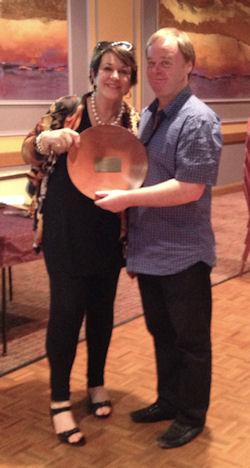 The winners of the 2014 Australian Swiss Pairs Marlene Watts and Michael Prescott