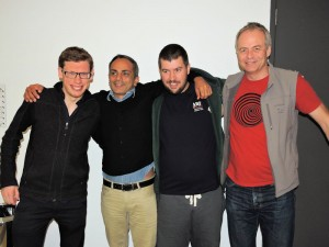 Liam Milne, Sartaj Hans, Nye Griffiths and Maurits Van Der Vlugt