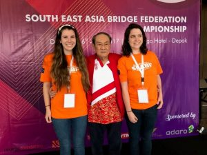 Francesca McGrath and Renee Cooper with President of SEABF.