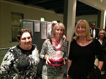 Toni Sharp and Marilyn Chadwick winners of the Sara Tishler Pairs