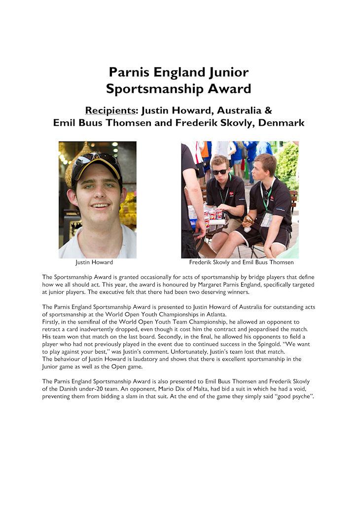 IBPA Justin Howard's Award