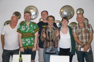 Winners of the 2015 NOT:Andy Braithwaite, Michael Ware, Matthew McManus, Warren Lazer,  Pauline Gumby, Ian Robinson