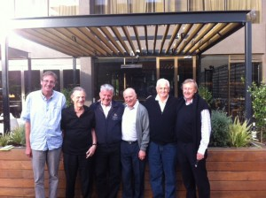 Winners of the 2016 Australian Seniors' Team Playoff: Stephen Burgess, Gabi Lorentz, Robert Krochmalik, Ron Klinger, Bill Haughie and Paul Lavings
